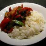 Rezept für Asiatische Garnelen-Gemüsepfanne