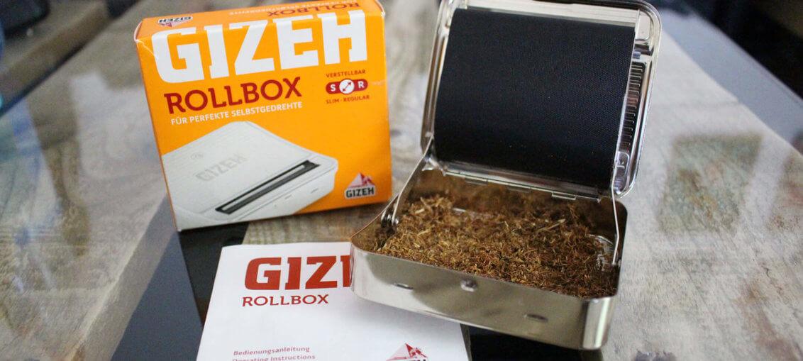 GIZEH Rollbox Drehmaschine Liferumfang Box offen